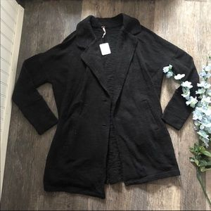 Free People | Black Open Front Jacket